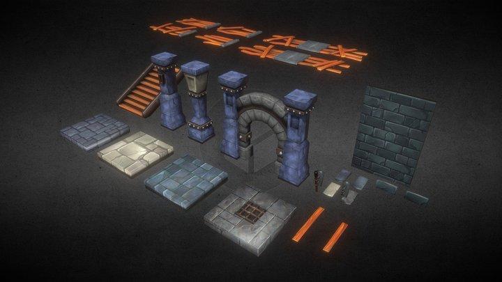 Dungeon Kit 3D Model