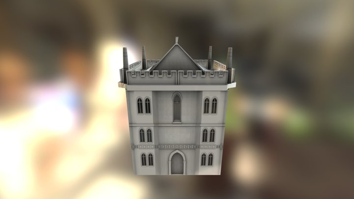 Gothic Medium Low Poly 3D Model
