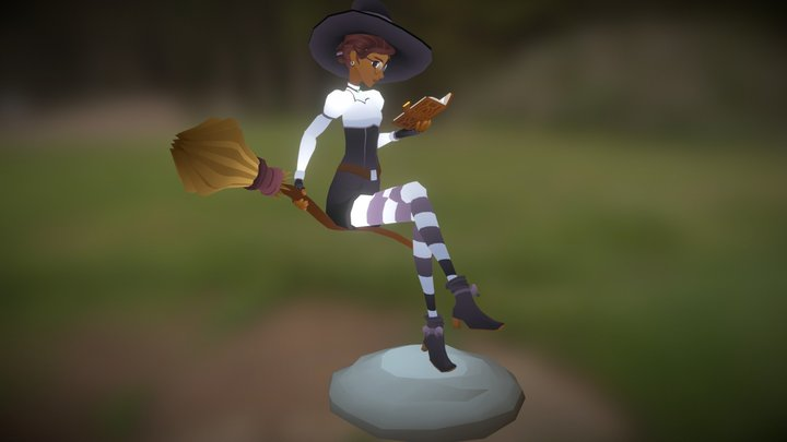 a witch's moment of calm 3D Model