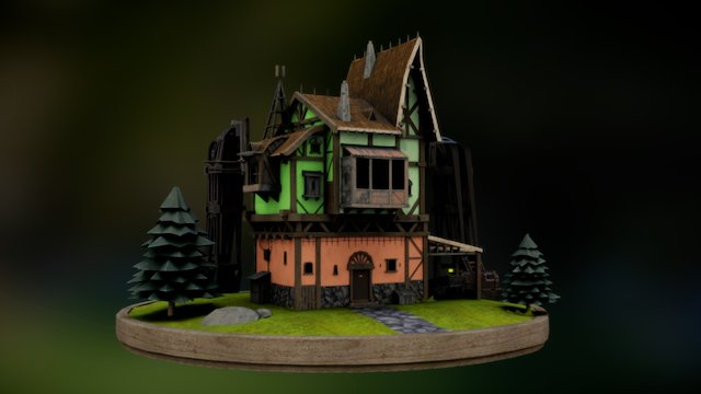 House/station 3D Model