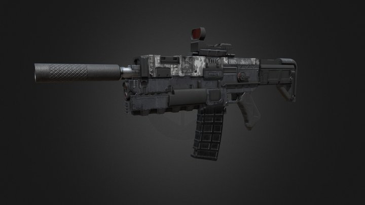 KSG-55 Low-Poly Weapon 3D Model
