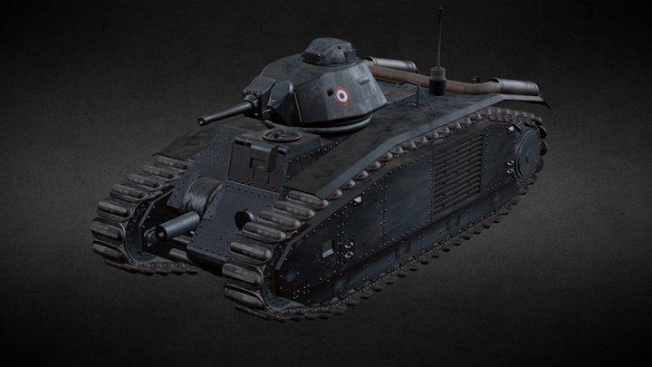 Char B1 Bis WoT 3D Model