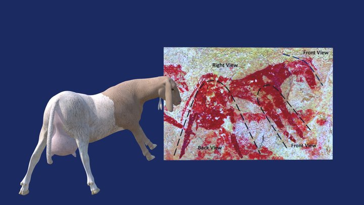 The Twisted-perspective Sheep from Dibirké 3D Model