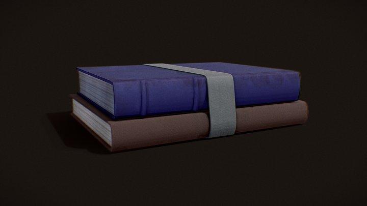 Bound Books Version 2 - Painted Texture 3D Model