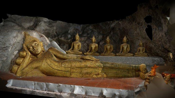 พระนอนวัดถ้ำขุนกระทิง 3D Model
