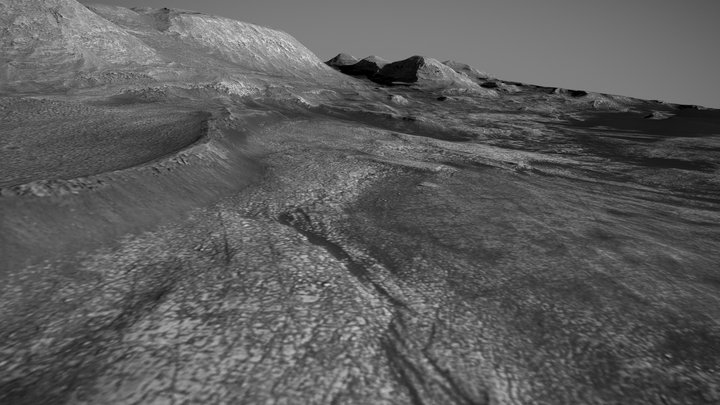 Mars / Gale Crater / Beyond Vera Rubin Ridge 3D Model