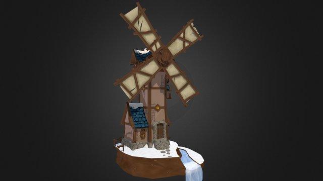 The Precarious Windmill 3D Model