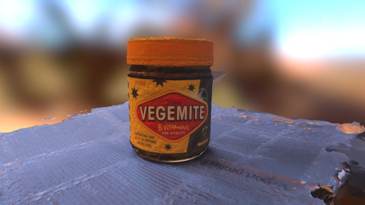 Vegemite 3D (an acquired taste) 3D Model