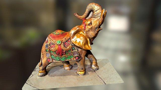 Golden Ephant 3D Model