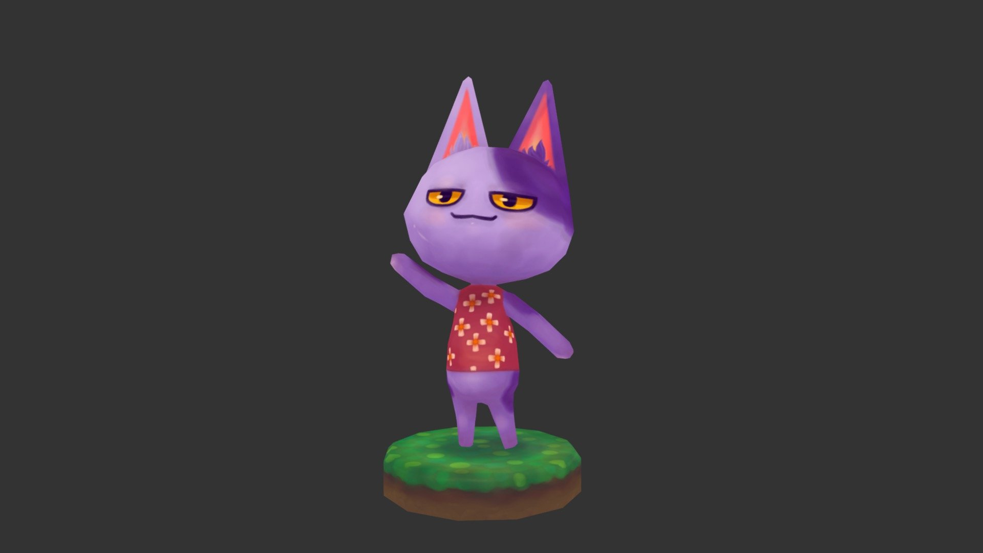 Bob The Cat Animal Crossing New Leaf 3d Model By