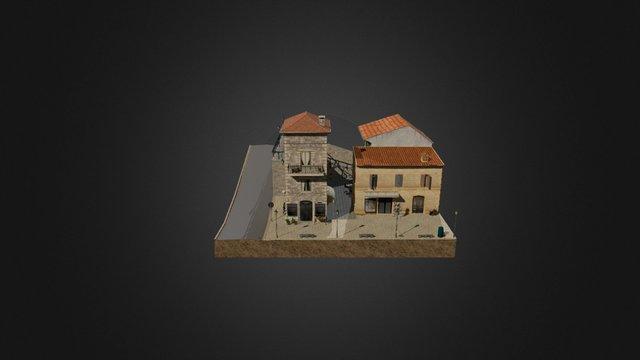 San Marino City Scene 3D Model