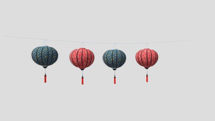 Hoian Lanterns 3D Model