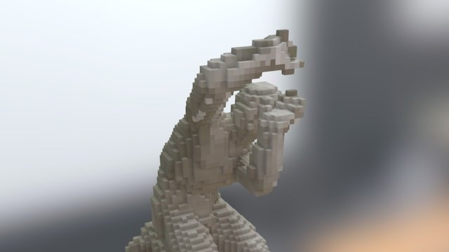 Classical Sculpture in Voxels 3D Model