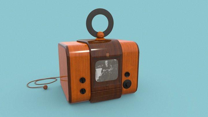 Vintage 1940's Television PBR - GameReady 3D Model