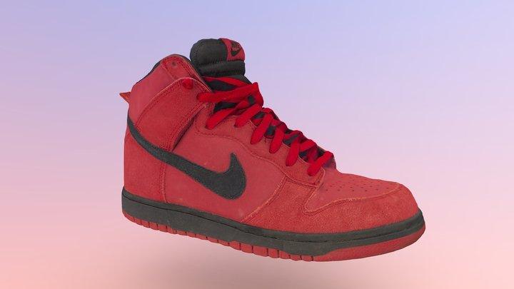 Nike Hightop Used Sneakers 3D Model