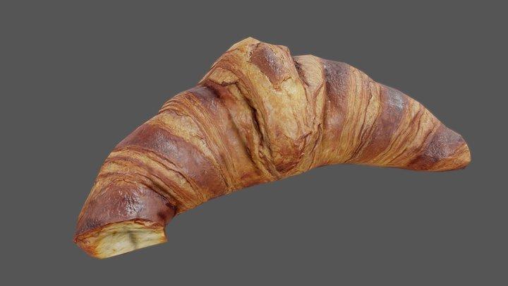 Croissant 01 - Low Poly - Photogrammetry 3D Model