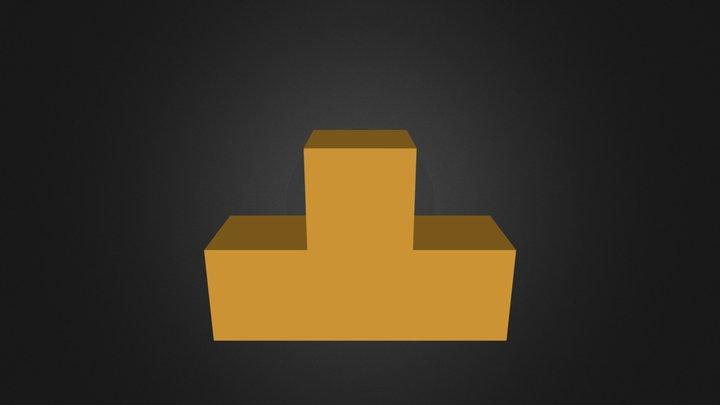 Puzzle Cube Orange Part 3D Model