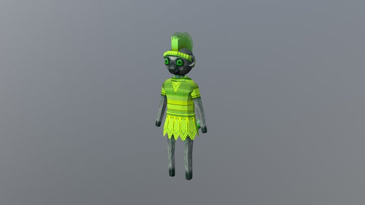 Lemur Green 3D Model