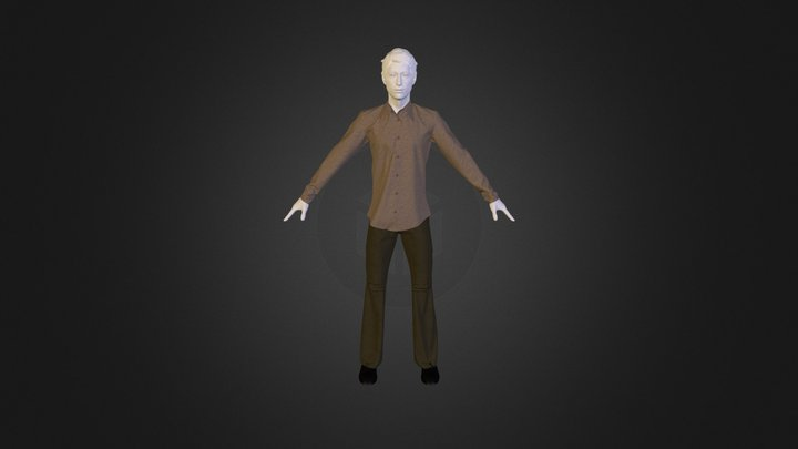 Cargo with Shirt 3D Model