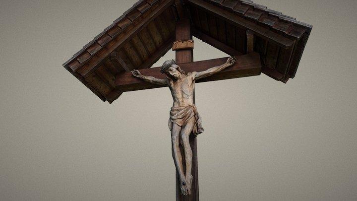 Jesus am Kreuz 3D Model