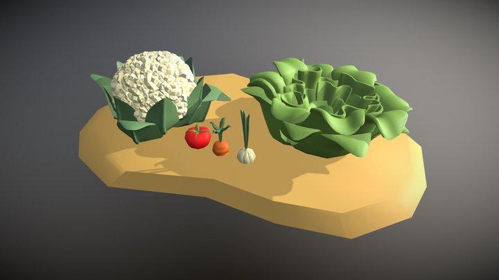 Gardening Set: Vegetables 3D Model