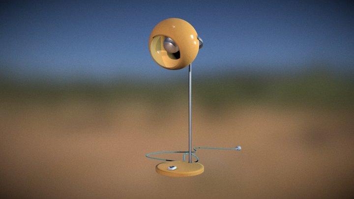lampe de bureau vintage 3D Model