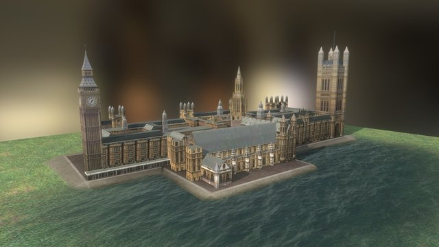 Westminster Palace Big Ben 3D Model