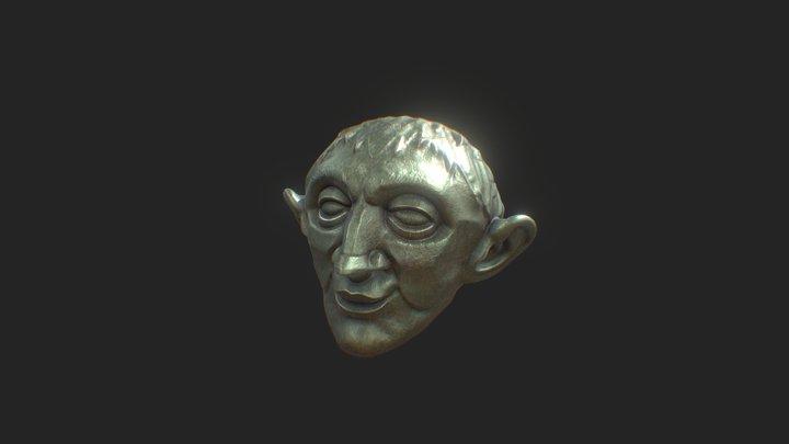 Sculpt . Stylized Roman Bust (Metal) 3D Model