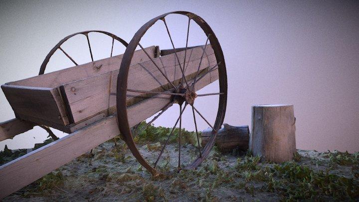 Old Wheelbarrow Golden Colorado 3D Model