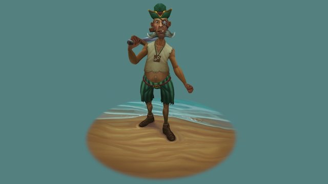 Fishy Pirate blizzard character contest 2016 3D Model