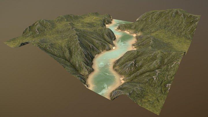 River Valley 3D Model