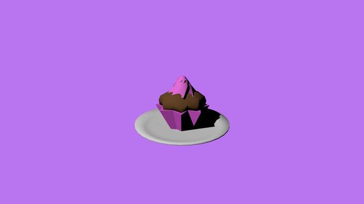Lowpoly Cupcake 3D Model