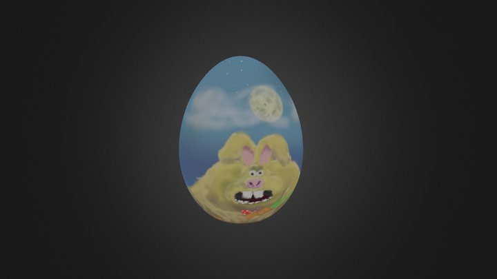 "EasterEgg ""The curse of the Easter Rabbit"" 3D Model"