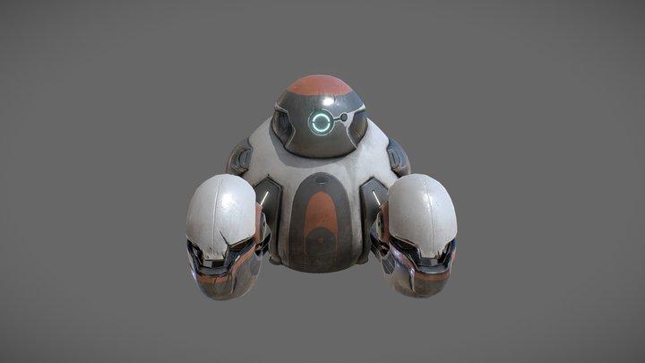space maintenance robot 3D Model
