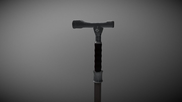 Threaded cane from Bloodborne 3D Model
