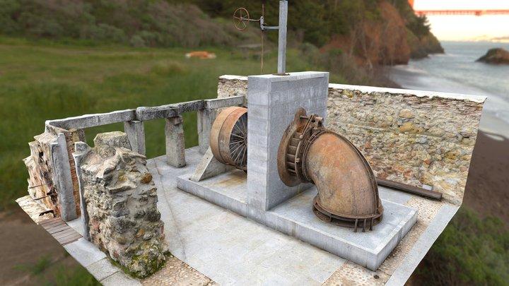 Hydraulic Turbine, Real Casa de Moneda Segovia 3D Model