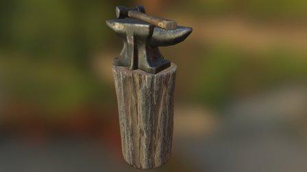 Rome: Fantasy Pack 1 - Anvil, Stump,Hammer 3D Model