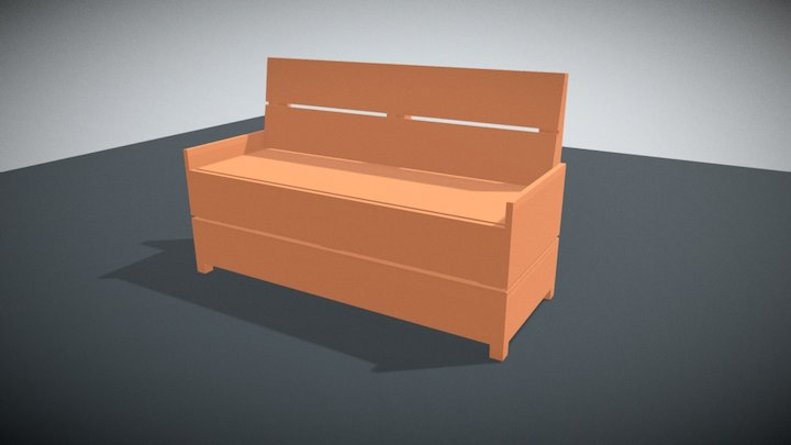Holzbank 3D Model