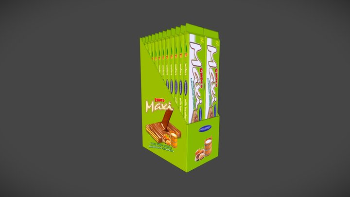 Wafer Choco Maxi 3D commercial packaging 3D Model