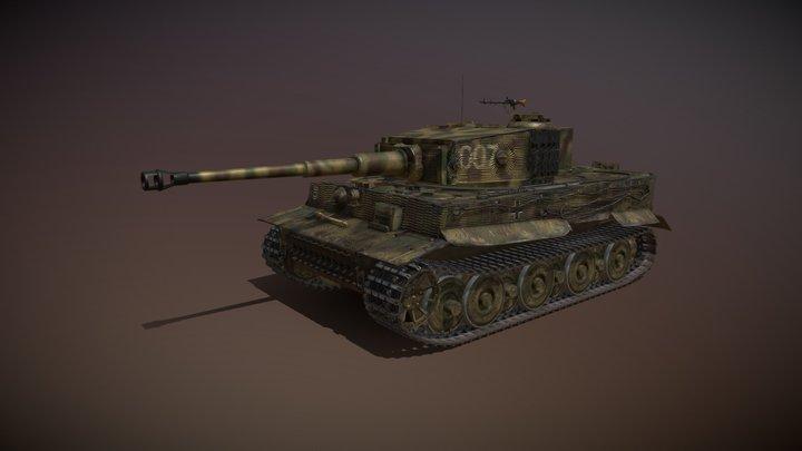 Panzer VI - Tiger - 007 - Late Production 3D Model