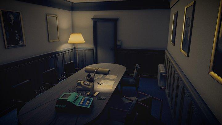 Retro Meeting Room 3D Model