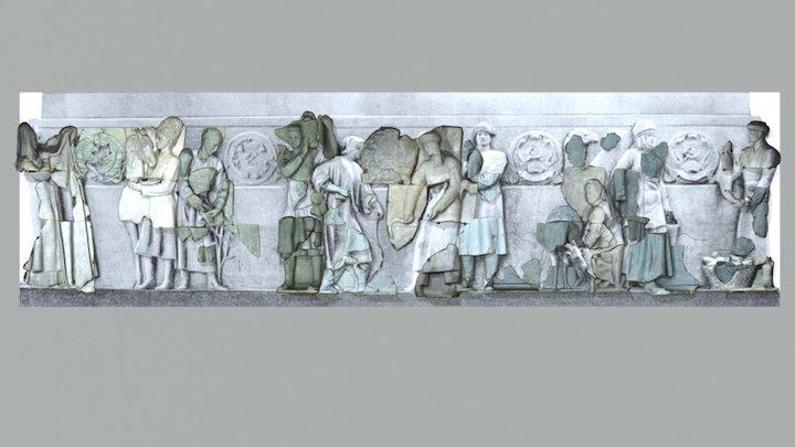 Deuxième façade du massif 3D Model
