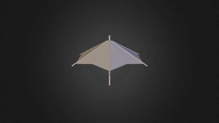 Umbrella - Low Poly 3D Model