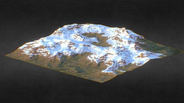 Moutain landscape 3D Model