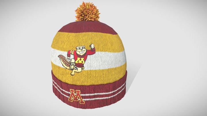 Minnesota Gophers Winter Hat 3D Model
