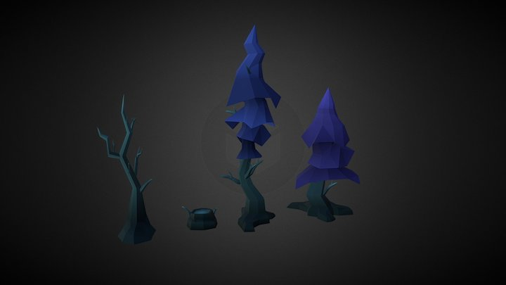 Low Poly   Tree Assets   3D Model