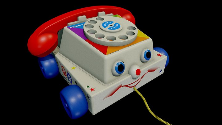 Toy Phone (Fisher Chatter) 3D Model