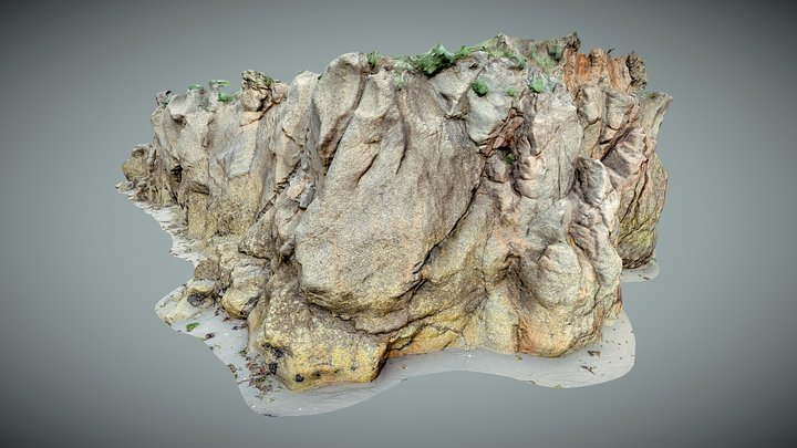 Rock Cliff ( Tirán - Moaña) 3D Model