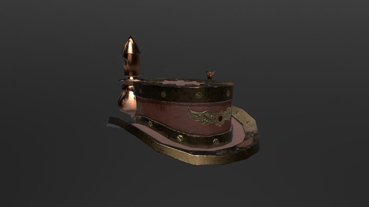 Steampunk Boiler Hat 3D Model