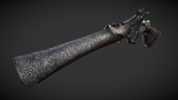 Hunter Pistol | Bloodborne 3D Model